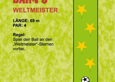 """Spiel den Ball an den """"Weltmeister""""-Sternen vorbei."""