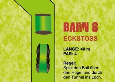 Spiel den Ball über den Hügel und durch den Tunnel ins Loch.